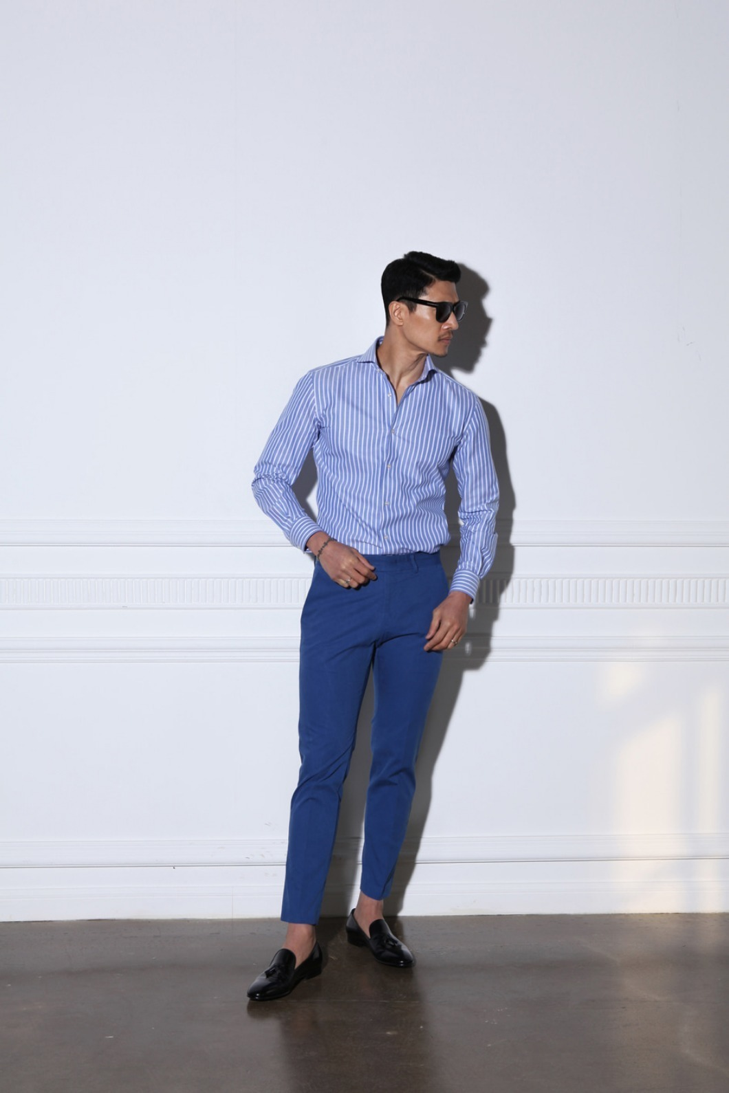 Riscal basic chino pants/blue-Best Seller- 재입고 완료!