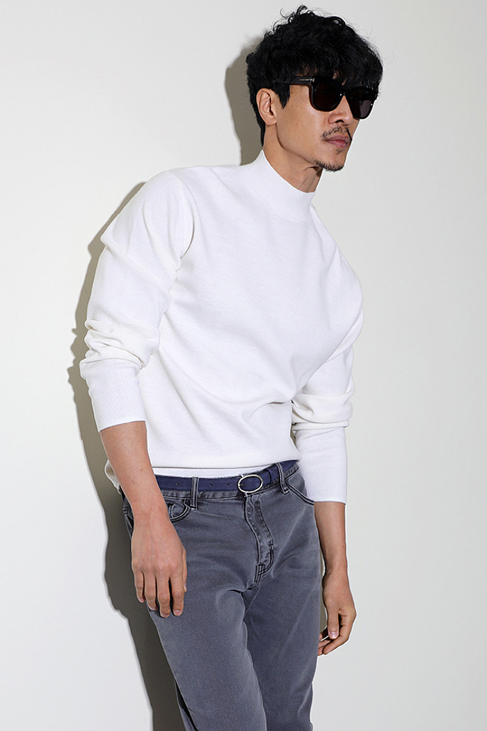 RYMOWA TAPE HALF TURTLE NECK KNIT-5COLOR