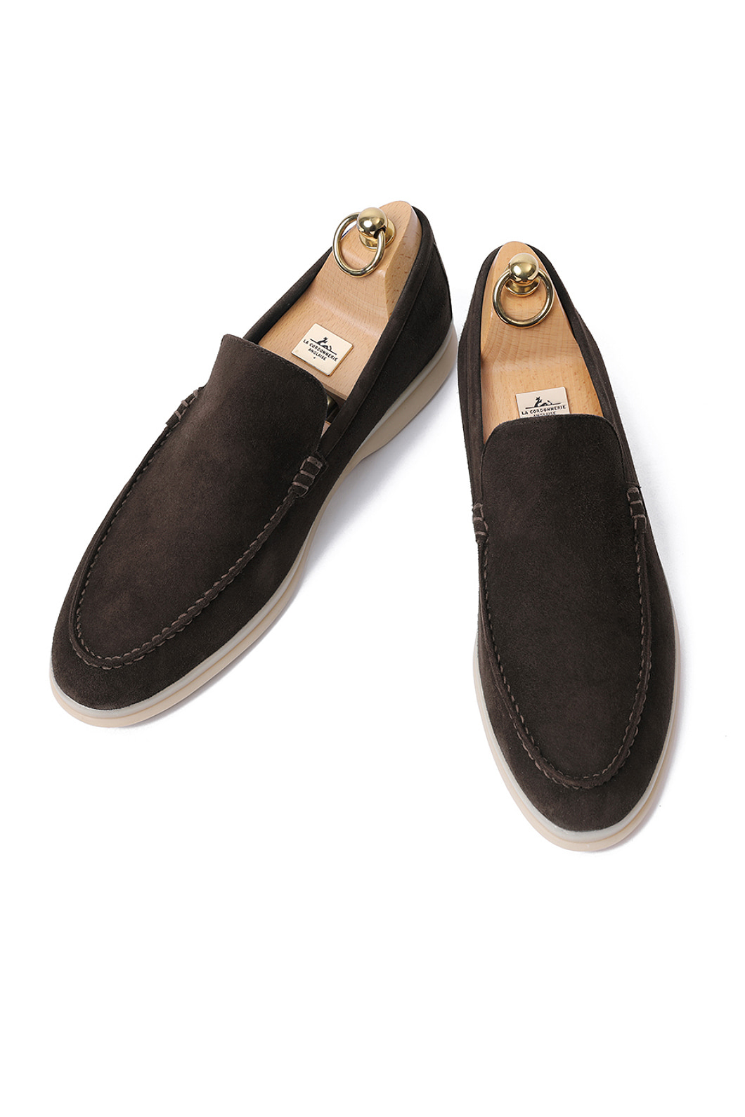 LOWER SUEDE LOAFER-DARK BROWNITALY Leather  265 size 당일 발송!