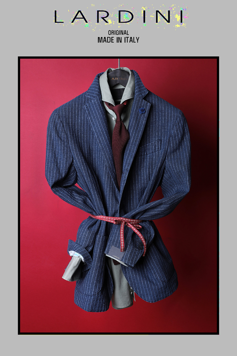 LARDINI DENIM STRIPE JACKET