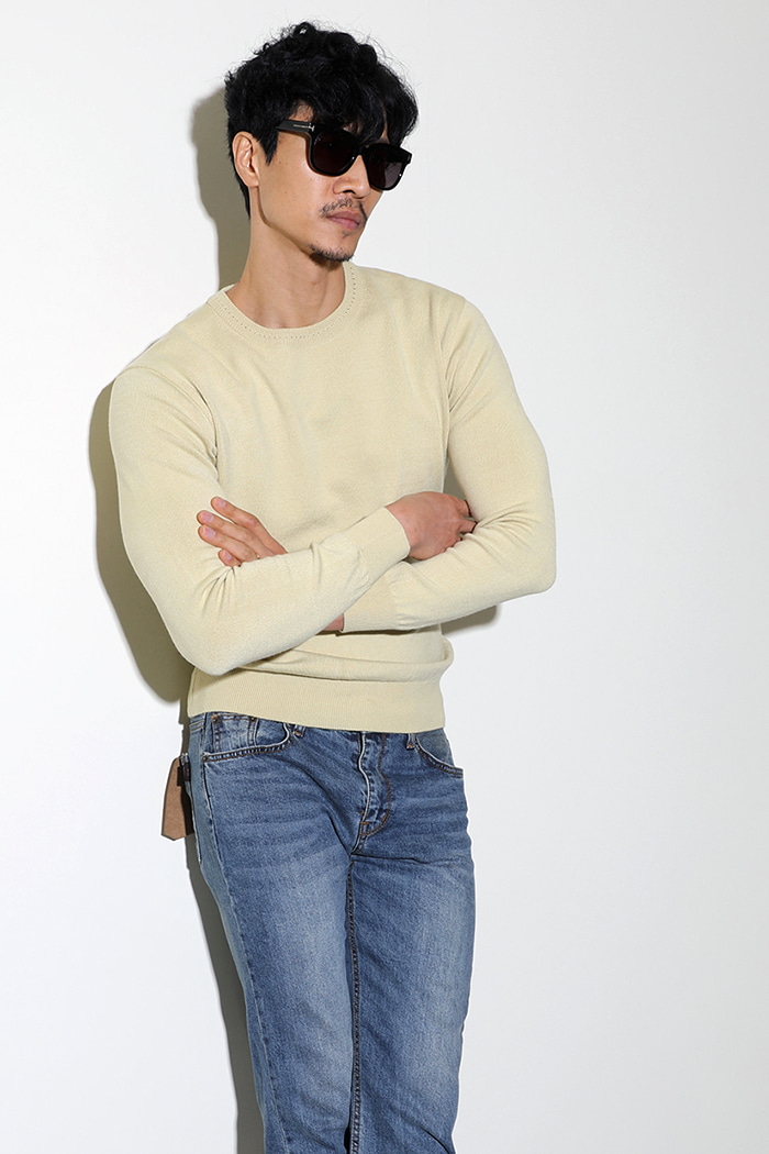 MEDIANY BASIC ROUND KNIT-6COLOR