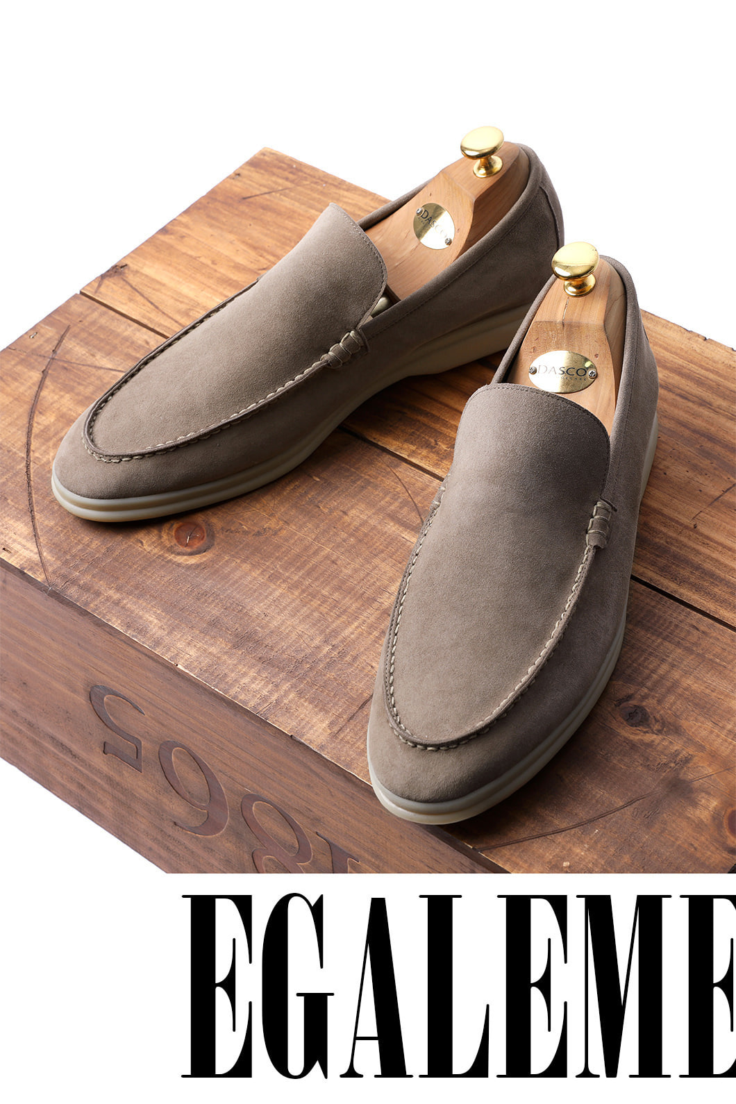 LOWER SUEDE LOAFER-BEIGEITALY Leather
