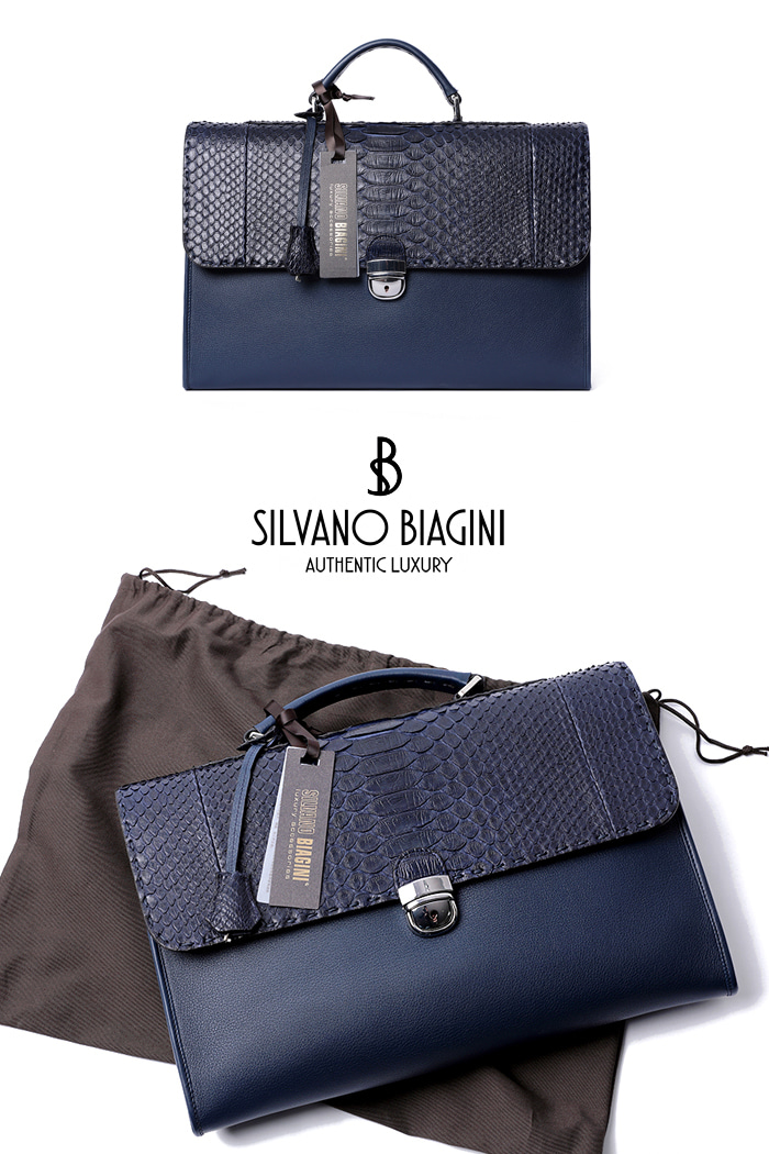 SILVANO BIAGINI PHAETHON BRIEF CASE-NAVY