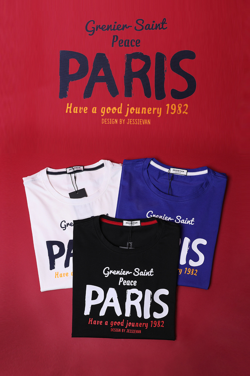 PARIS ROUND T-SHIRT-3COLOR수입한정제품