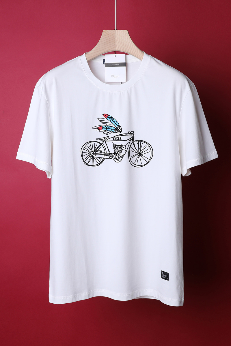 CYCLE ROUND T-SHIRT-3COLOR수입한정제품