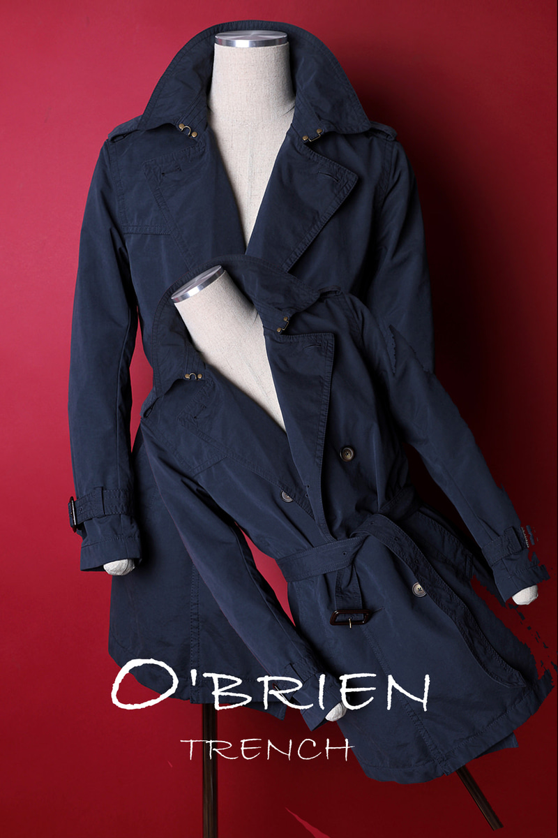 O`BRIEN TRENCH COAT-2COLOR