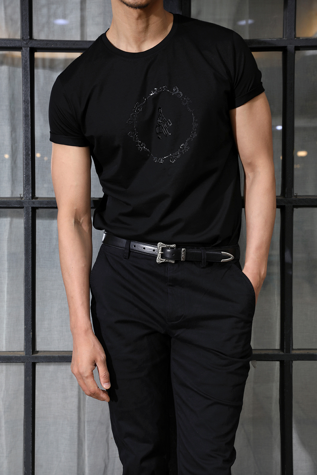 GENTLEMAN ROUND T-SHIRT-2COLOR수입한정제품