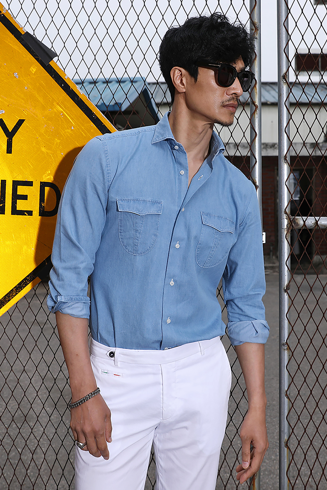 TAKE482 ITALIA A&C WASHED DENIM POCKET SHIRT-SKY BLUE품절임박-한정수량 20% SALE! ~8월31일까지