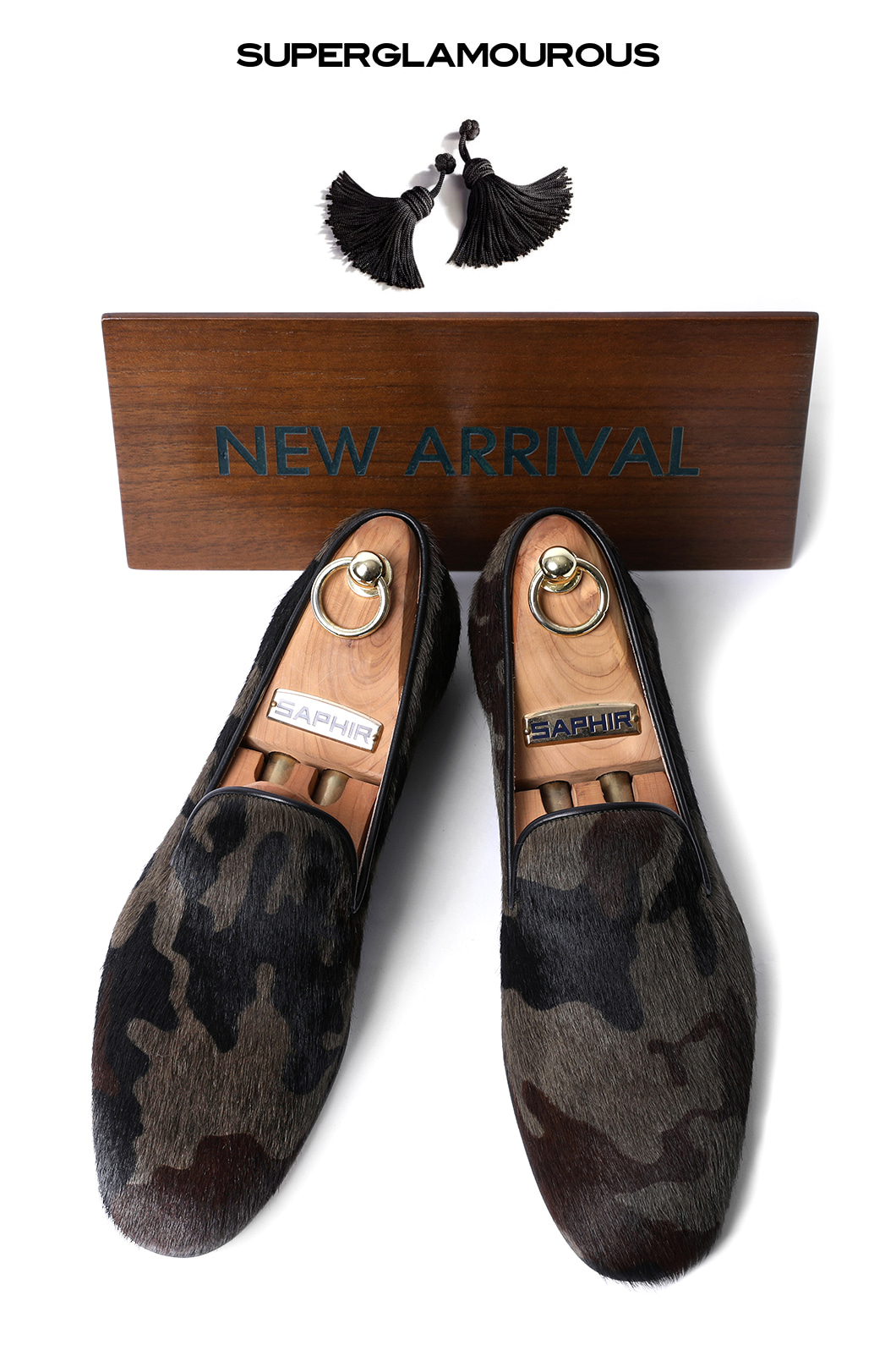 SUPERGLAM HARLEY PONY CAMOUFLAGE SLIPPERS/CAMOUFLAGEMADE IN ITALY-한정수량-당일배송!