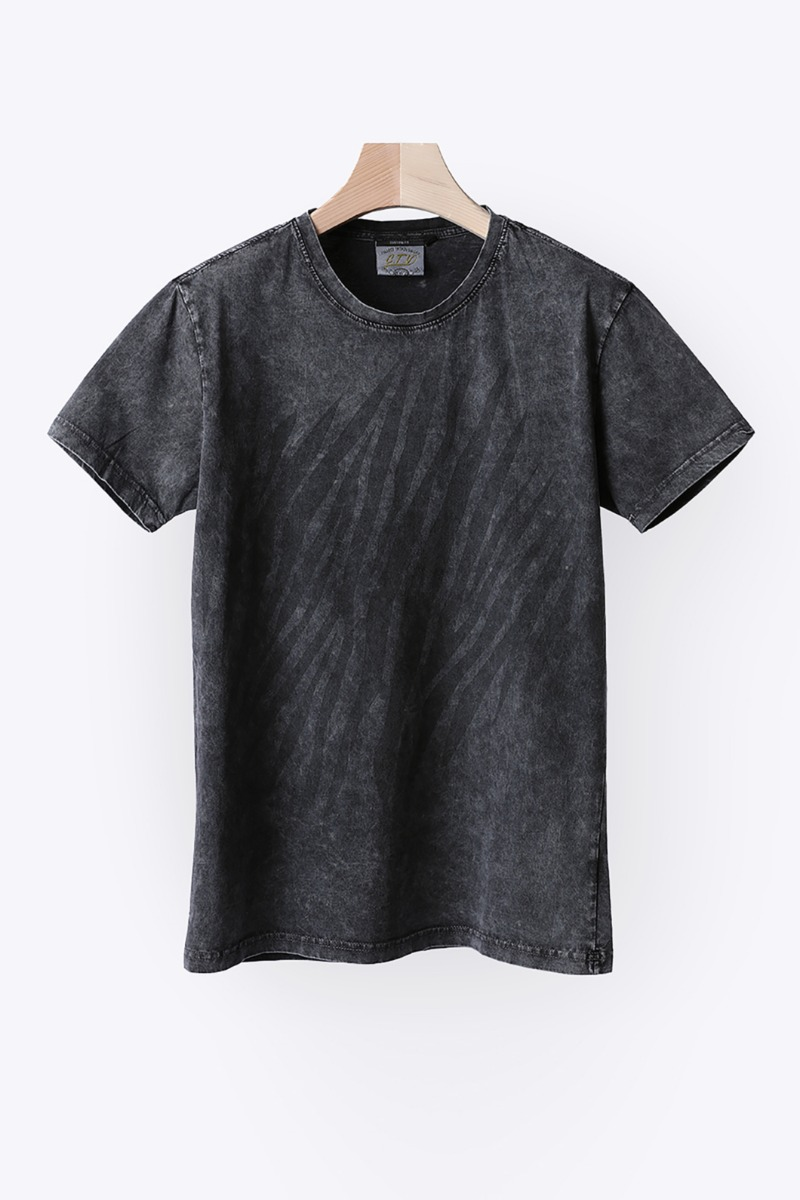 TUDYK WASHED ROUND T-SHIRT-GRAY수입한정제품