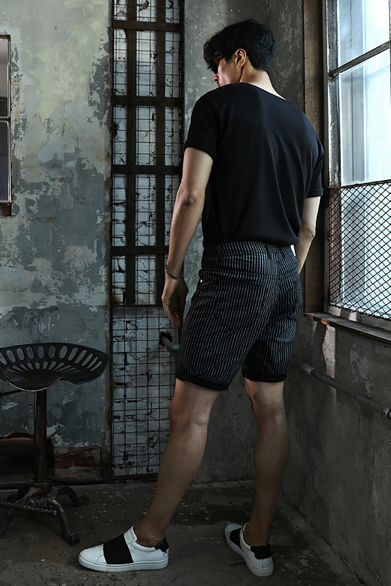 PRESCOTT STRIPE HALF PANTS-2COLOR수입한정제품
