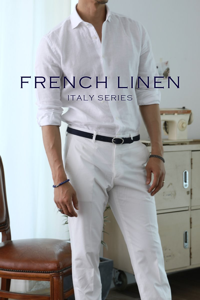 TAKE496 FRENCH LINEN SHIRT-WHITE-적극추천!