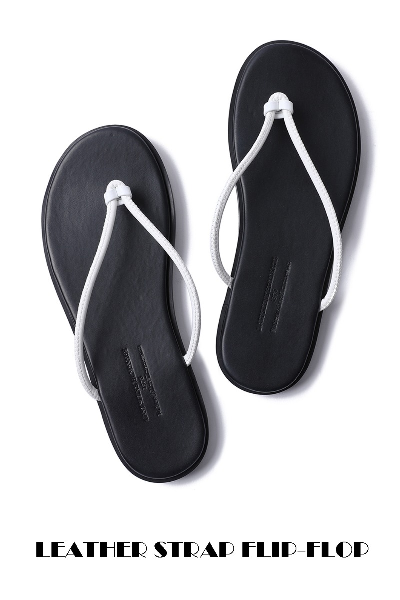 LEATHER STRAP FLIP-FLOP-WHITE남여공용6(260~265) size 당일 발송!