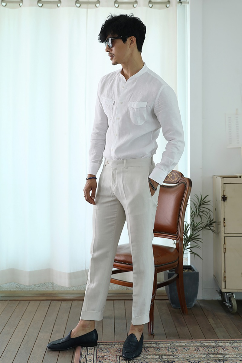 HADISON LINEN SLACKS PANTS-3COLOR