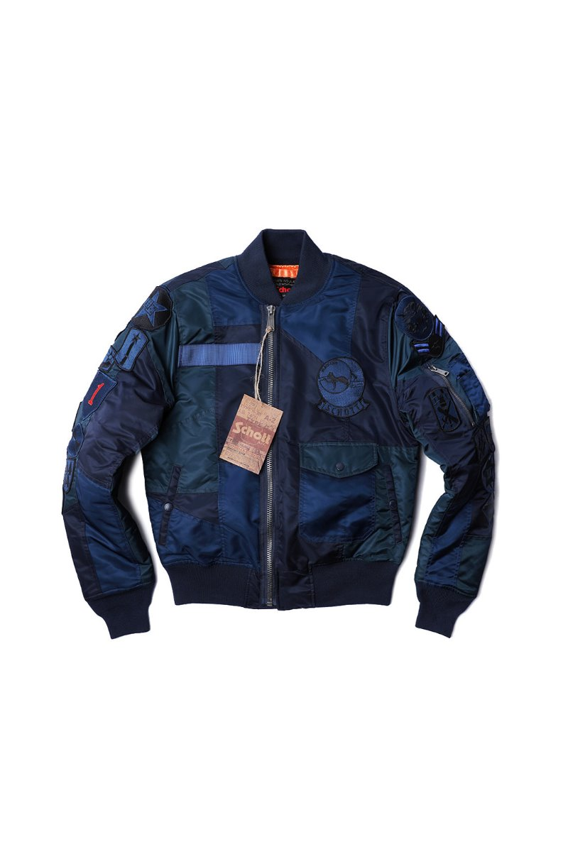 SCHOTT N.Y.C panel Padding MA-1-NAVY[America-Original]