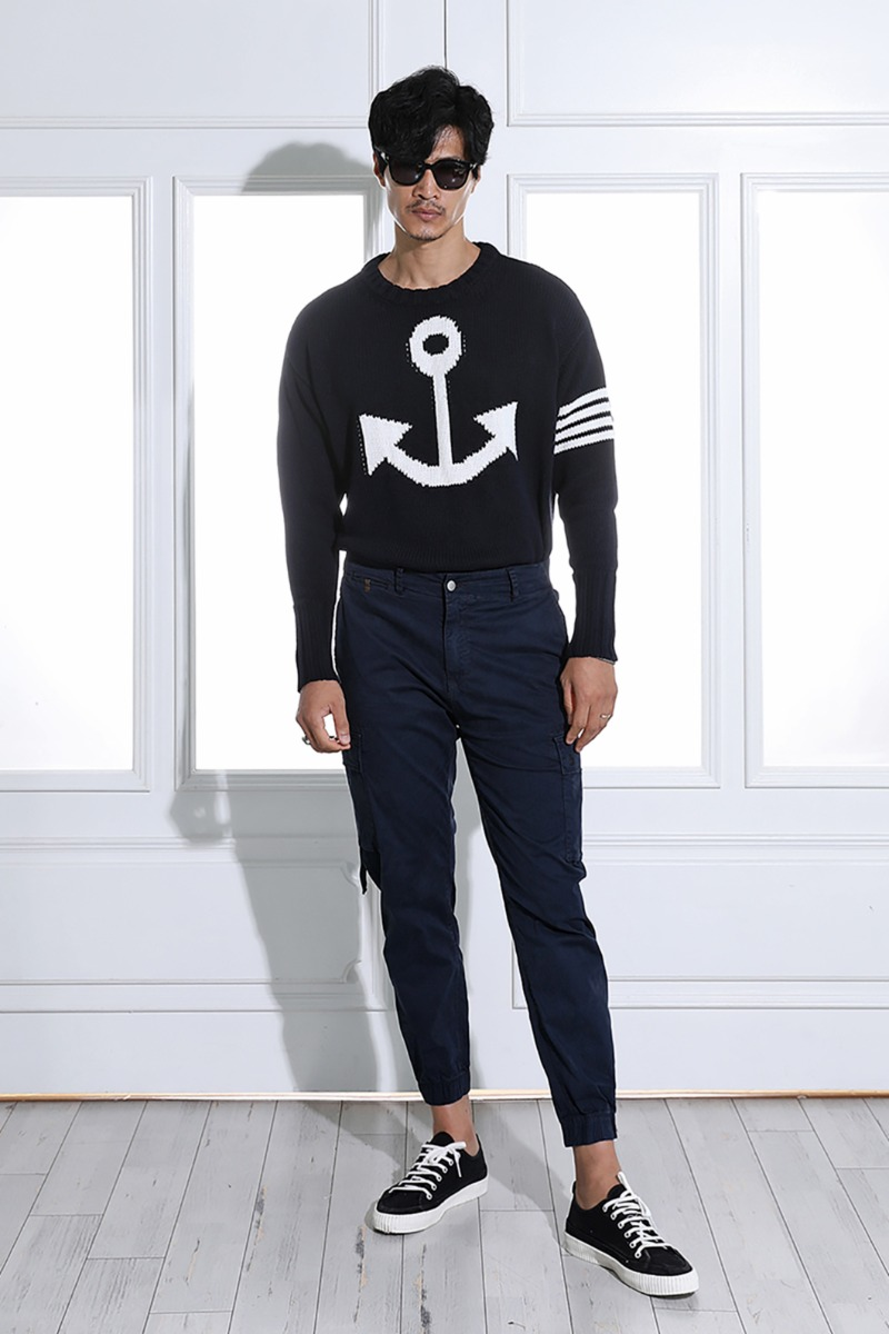SKREIN ROUND KNIT-NAVY수입한정제품