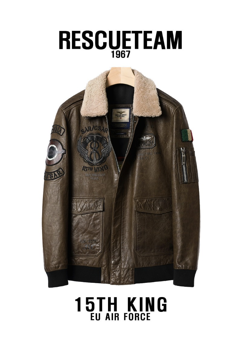 KING1967 LEATHER FLIGHT JACKET-2COLORPREMIUM수입한정판!!