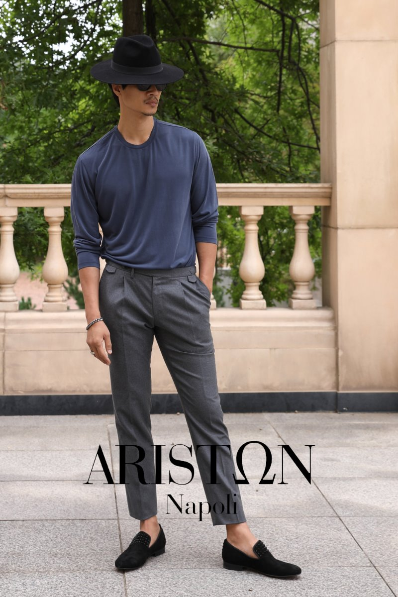 TAKE508 ITALY ARISTON NAPOLI WOOL PANTS-KHAKI GRAY1/2이상 판매완료!!