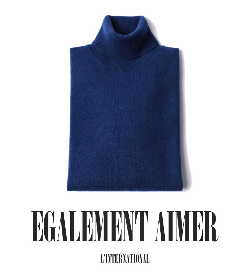 453 ROYAL CASHMERE TURTLENECK-CORSA BLUE