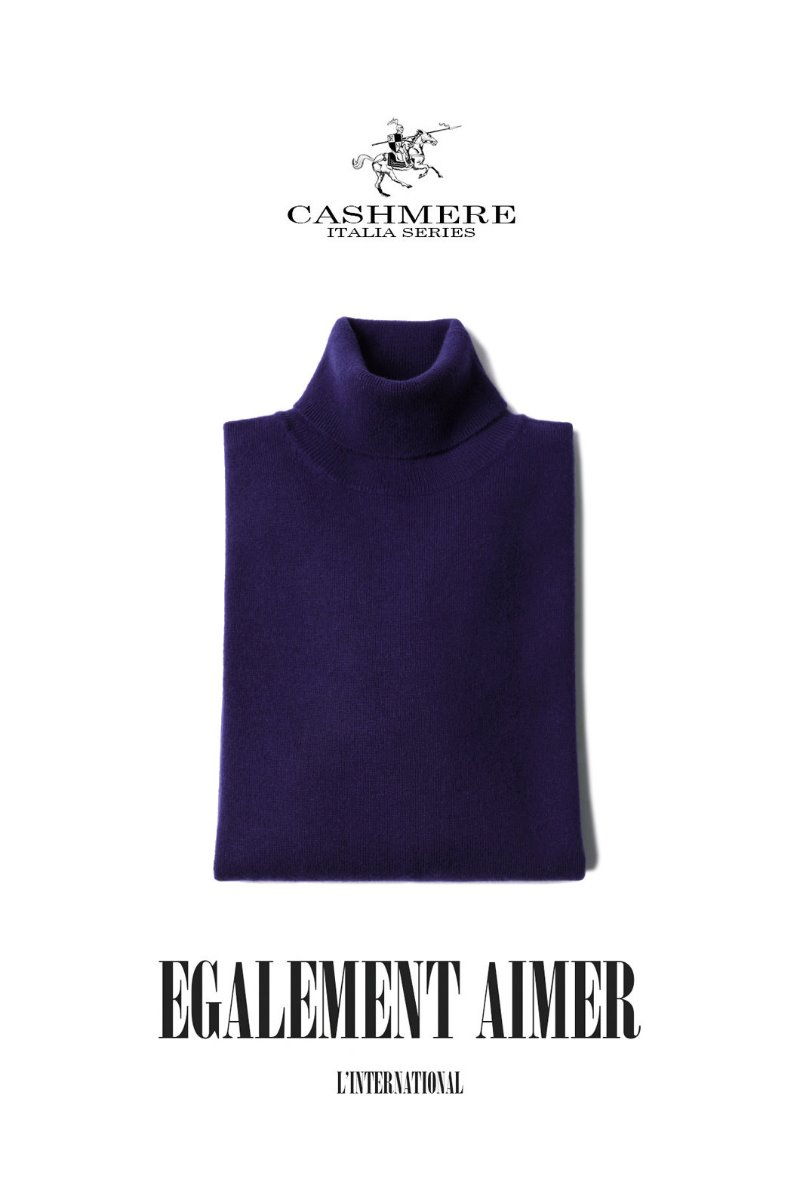 460 ROYAL CASHMERE TURTLENECK-VIOLET