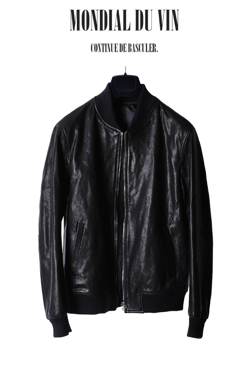 DICKIE BANDING LEATHER BLOUSON-BLACK