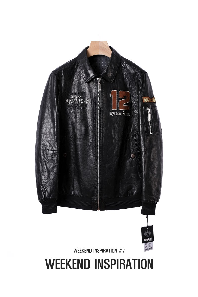 MG-MAN LEATHER FLIGHT JACKET-BLACK