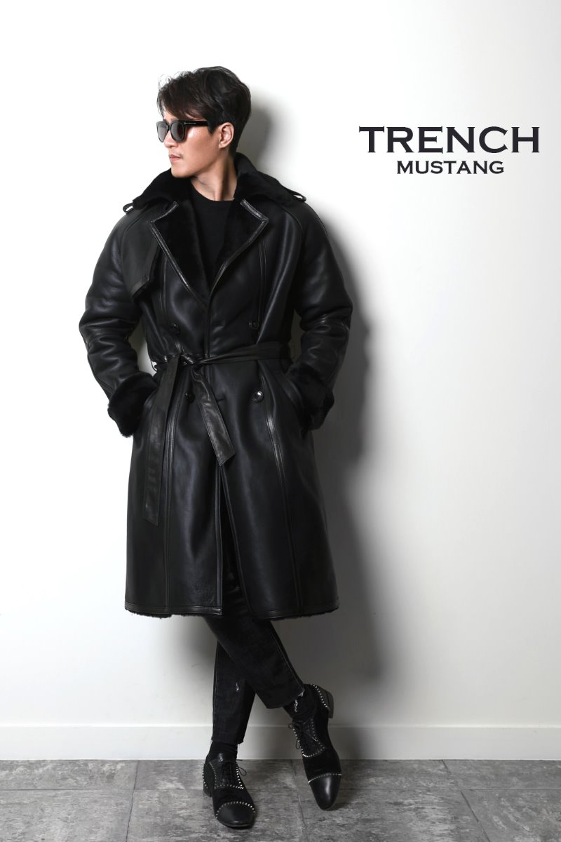 TRENCH COAT MUSTANG-BLACK