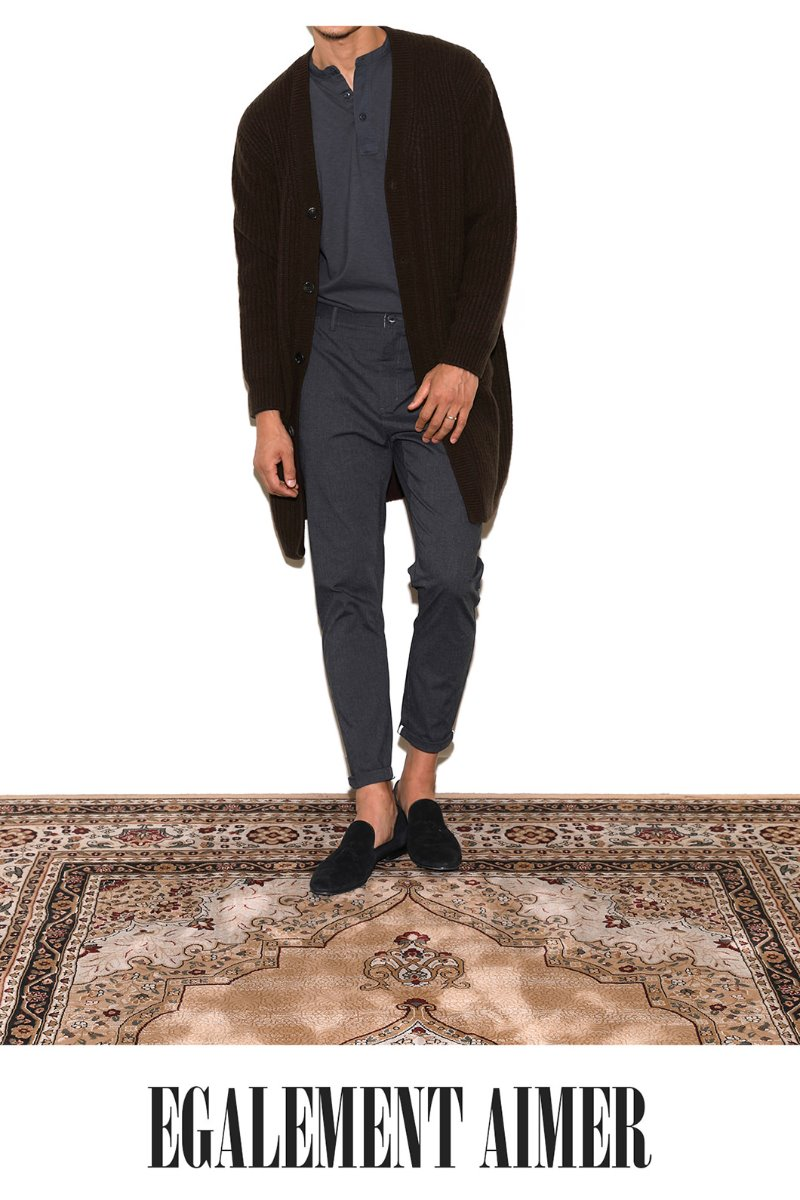 BOTTO Air wool long cardigan - dark brown[Italy yarn]스페셜오더-최근판매 이슈제품!
