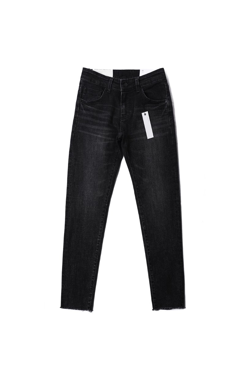CANAVAL SLIM DENIM PANTS-BLACK