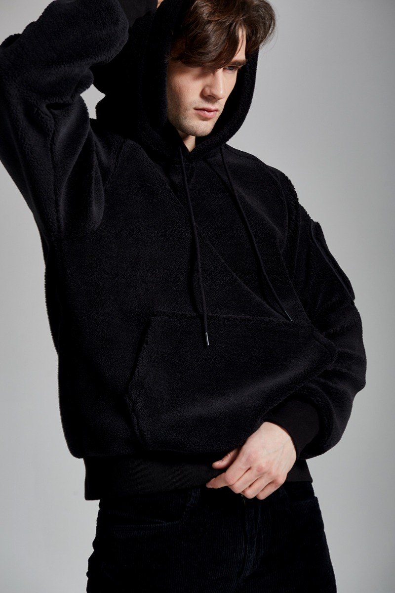 HAENEL FLEECE HOODY-2COLOR