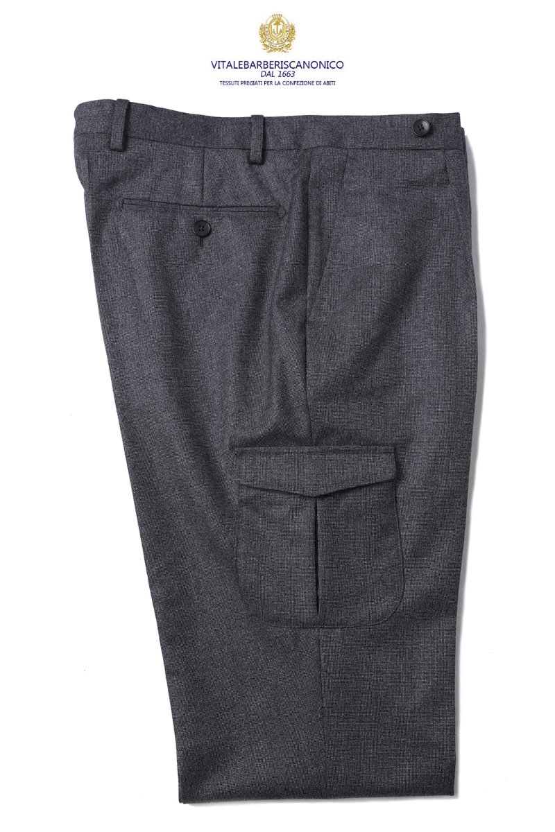 510 ITALY VITALE BARBERIS CANONICO 1663 POCKET PANTS-MIDDLE GRAY