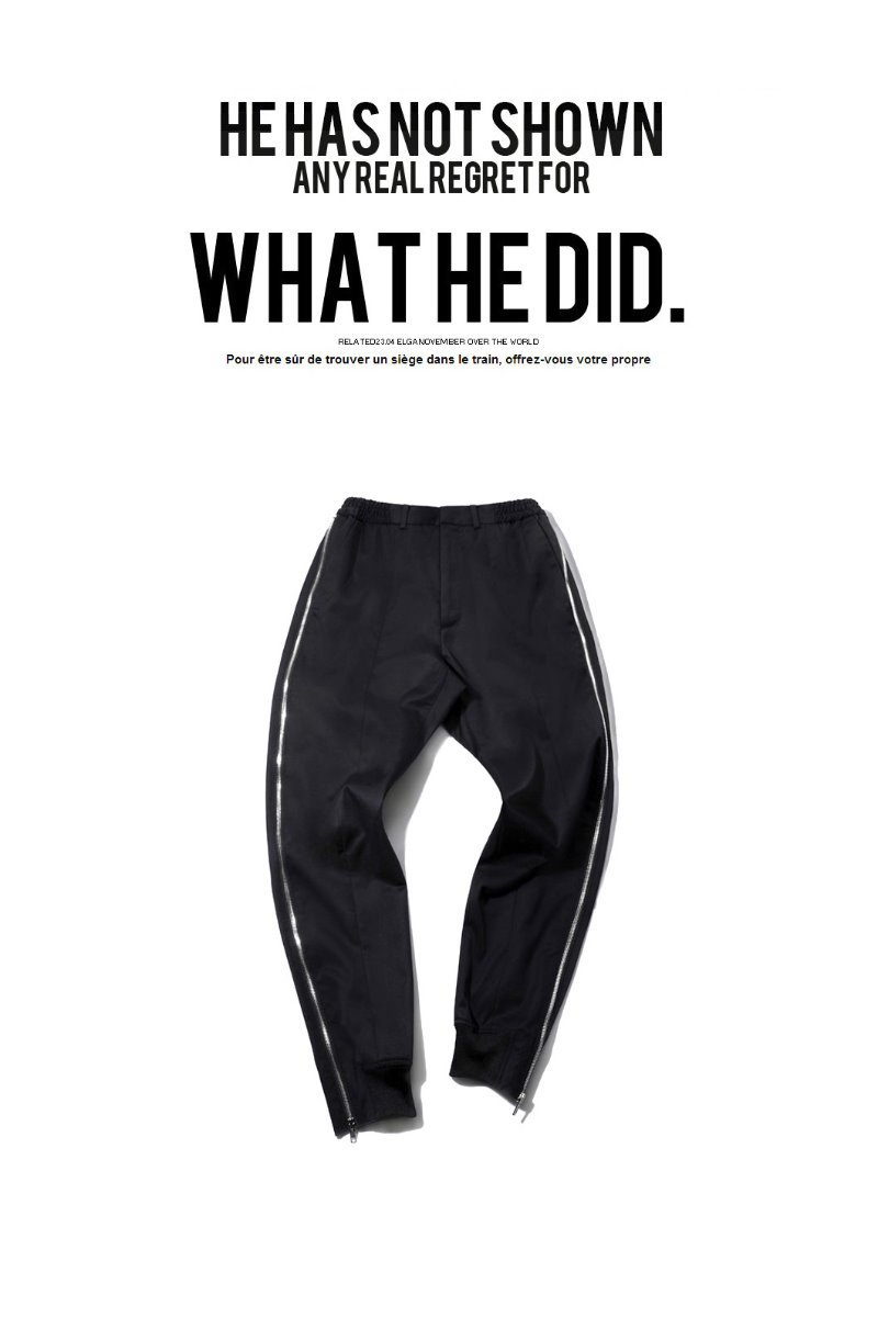 Side zipper jogger pants/black[Special order project]2020소량재입고완료!