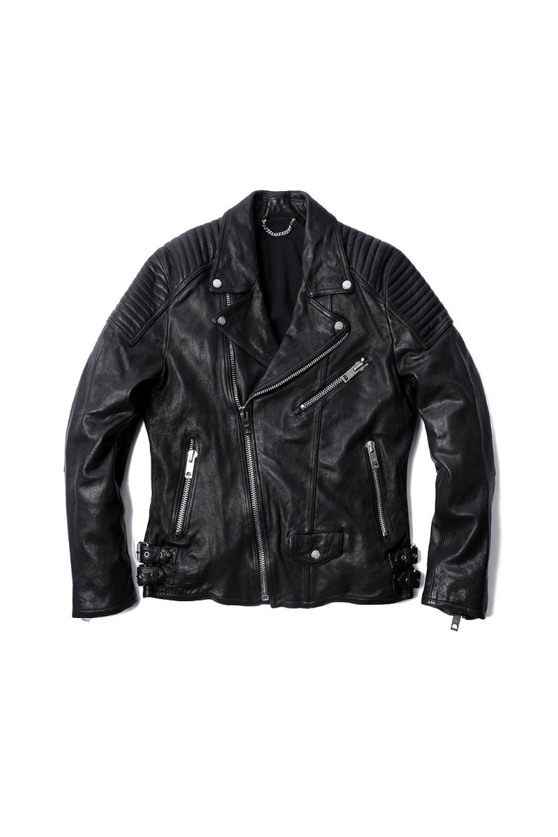 SHANK LEATHER RIDER JACKET-BLACK