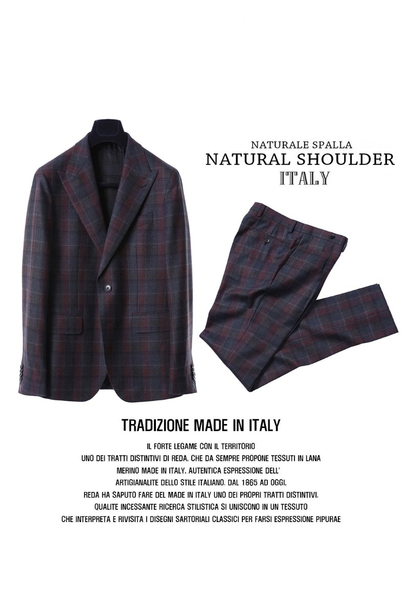 511 DRAGO ITALY CHECK SUIT-NATURALE SPALLA품절임박!