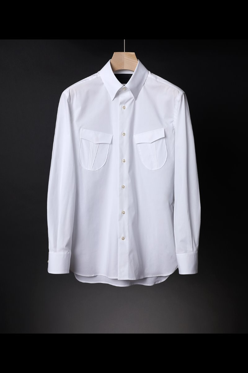 491 ITALIA A&C POCKET SHIRT-WHITE품절임박