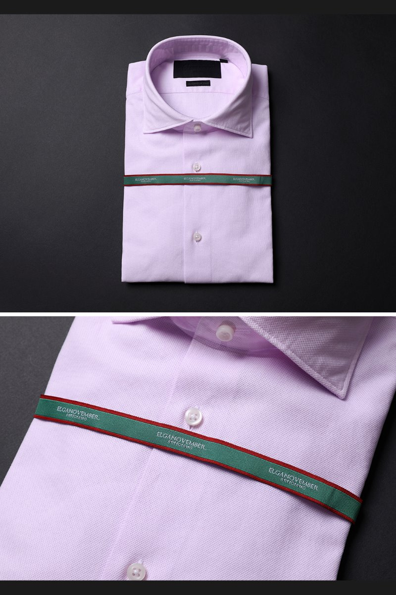 505 ITALIA WIDE COLLAR SHIRT-MOOD PINK