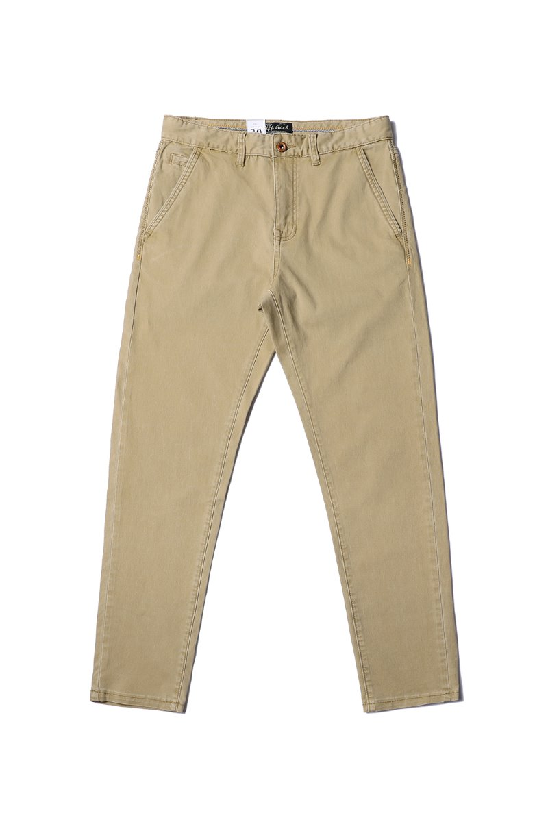 BARDEM WASHED SLIM CHINO PANTS-BEIGE수입한정제품