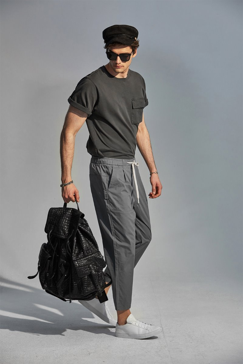 A8810 BANDIND PANTS-GREY