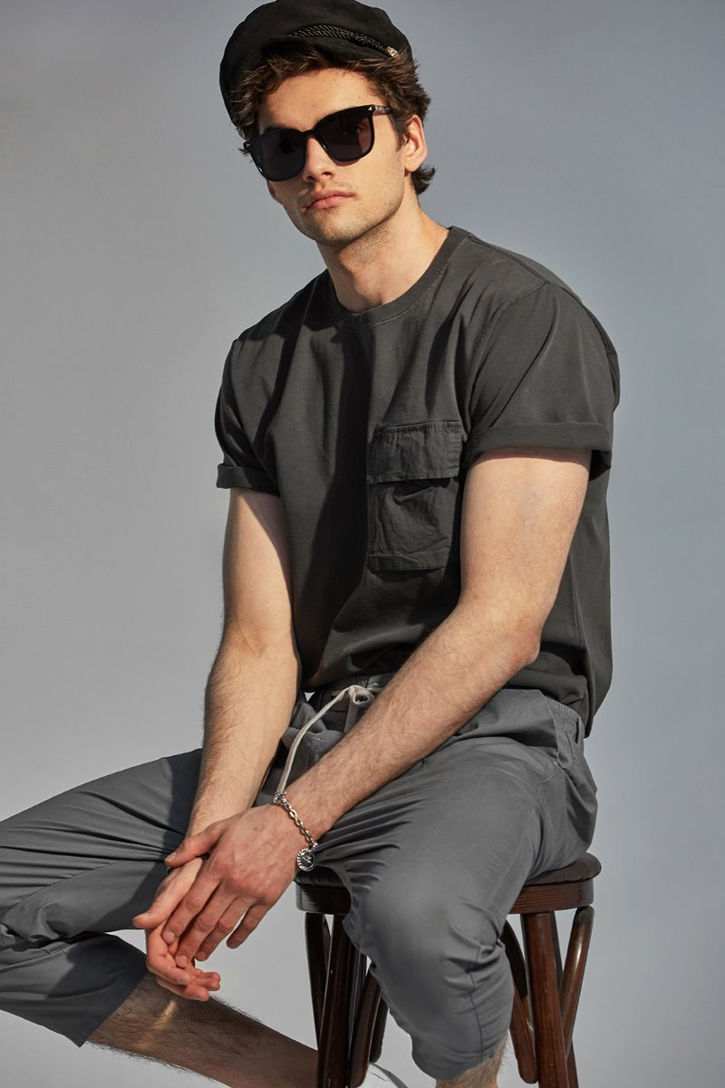 KIEN1190 POCKET T-SHIRTS-2COLOR
