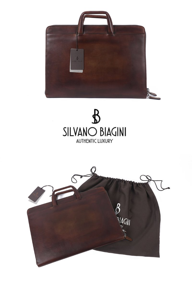 SILVANO BIAGINI WAIEA BRIEF CASE-BROWN극소량 한정!