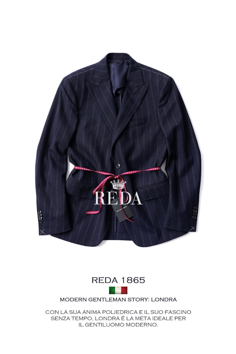 485 ITALIA REDA 1865 STRIPE SINGLE JACKET-NAVY마지막수량 22%할인!!
