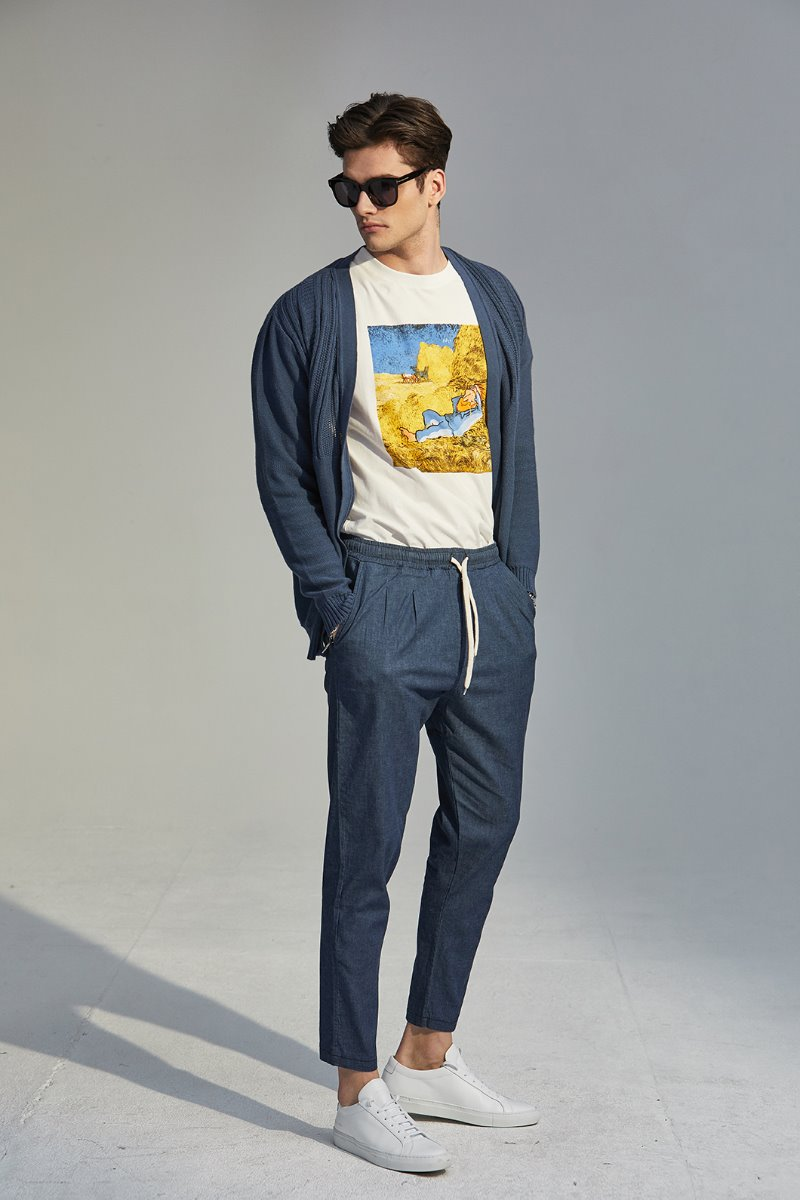 AMD PE444 BANDIND PANTS-BLUE