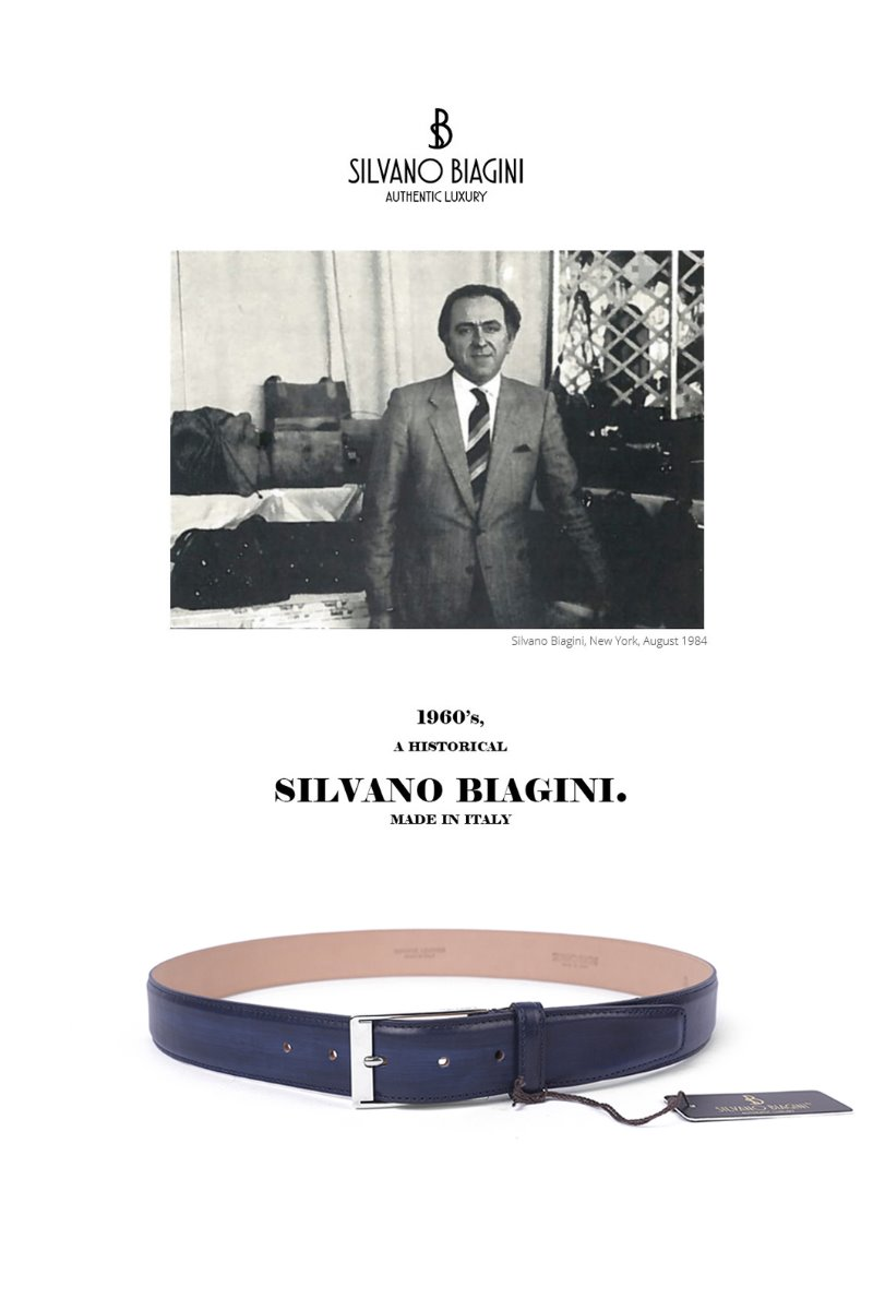 SILVANO BIAGINI PATINA BELT-NAVY