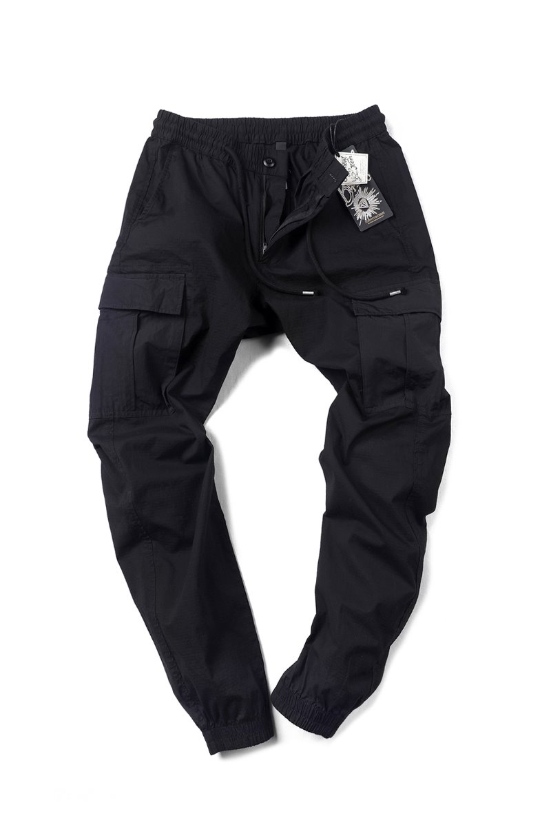 J&C JOGGERS CARGO PANTS-BLACK