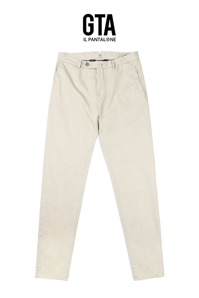 GTA WASHED COTTON PANTS-Y. BEIGESLIMFIT