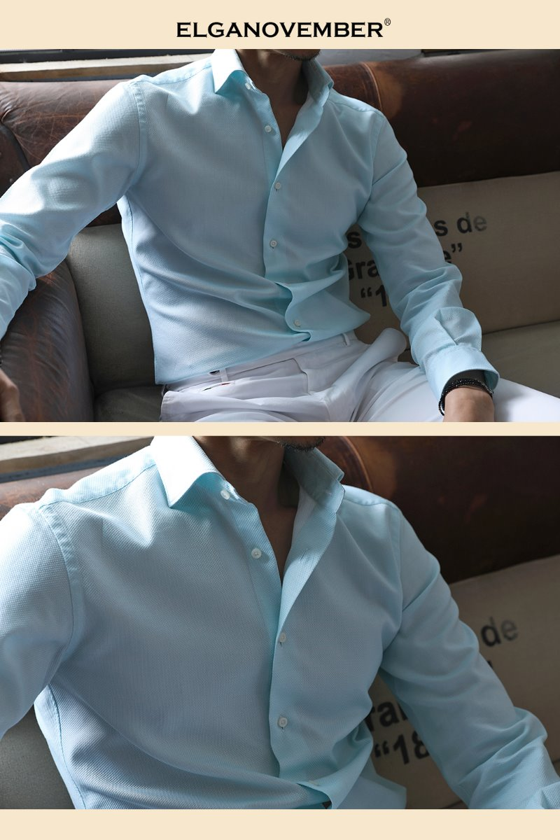 489 ITALIA Andreazza&Castelli WIDE COLLAR SHIRT-MINT품절임박!