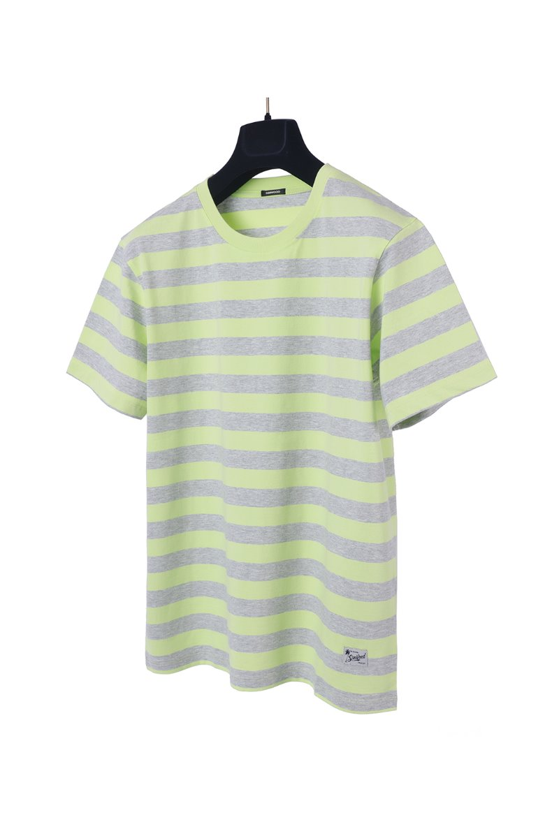 SJ150119 STRIPE T-SHIRTS- GREY FLUORESCENT소량 재입고완료!