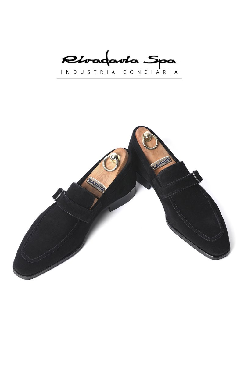 519  ITALY RIVADAVIA LOAFER-BLACK