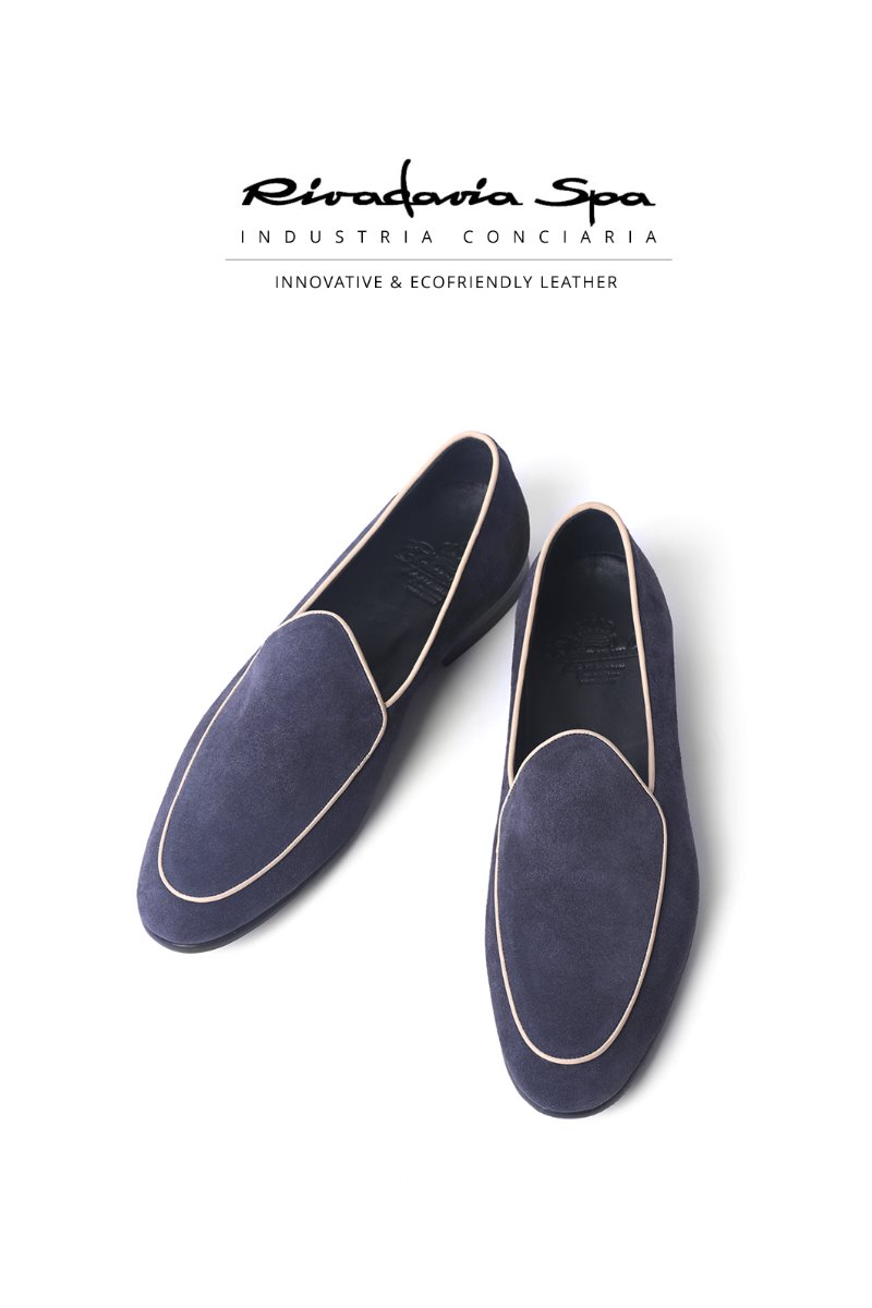 534  ITALY RIVADAVIA LOAFER-LIGHT NAVY
