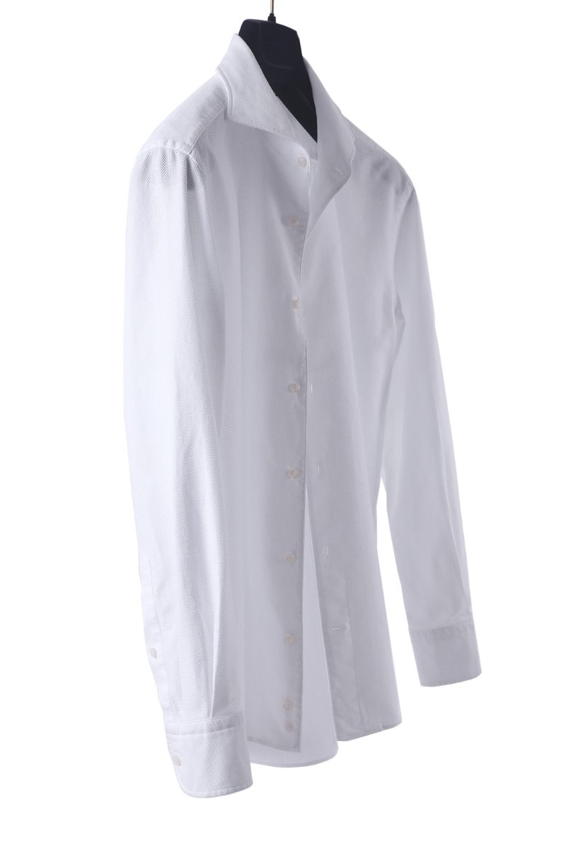 538 ITALIA ONE-PIECE COLLAR SHIRT-WHITE품절임박